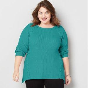 NWT Mint Cross Stitch Sweater 22/24